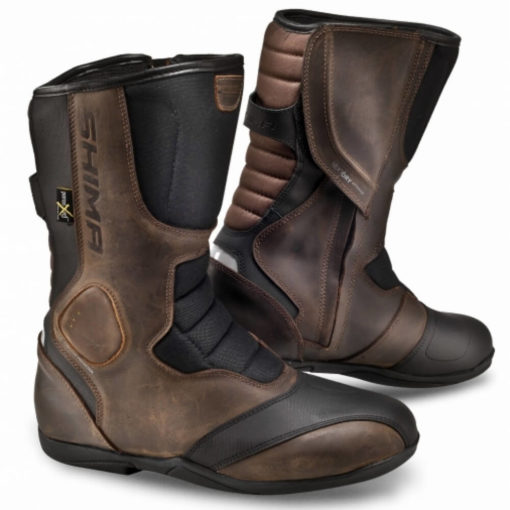 Shima Strada Vintage Waterproof Brown Riding Boots