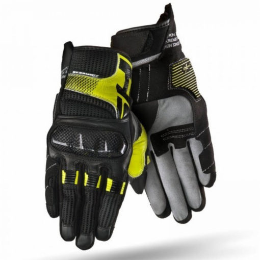 ShimaX Breeze Black Fluorescent Yellow Riding Gloves