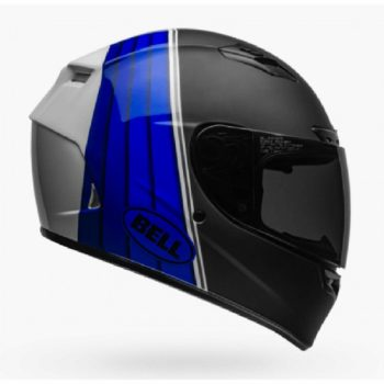 BELL Qualifier DLX MIPS Illusion Matt Gloss Black Blue Full Face Helmet