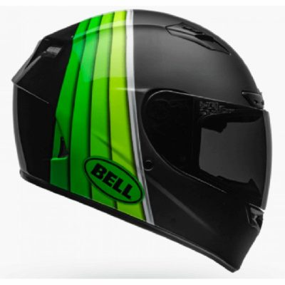 BELL Qualifier DLX MIPS Illusion Matt Gloss Black Green Full Face Helmet SIDE