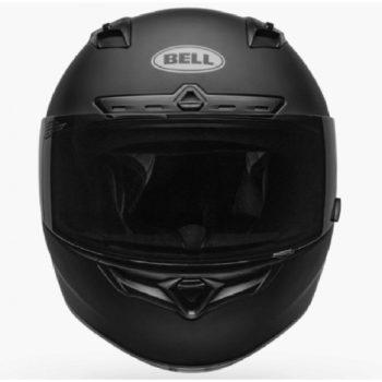 BELL Qualifier DLX MIPS Illusion Matt Gloss Black Green Full Face Helmet front 2