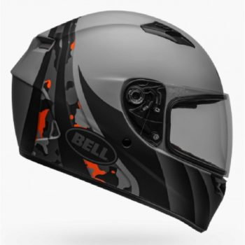 BELL Qualifier Integrity Matt Camo Grey Orange Full Face Helmet SIDE