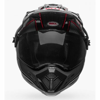 Bell MX 9 Adventure MIPS Berm Gloss Black White Red Dualsport Helmet front