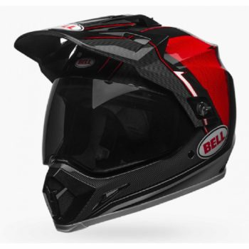 Bell MX 9 Adventure MIPS Berm Gloss Black White Red Dualsport Helmet side 3