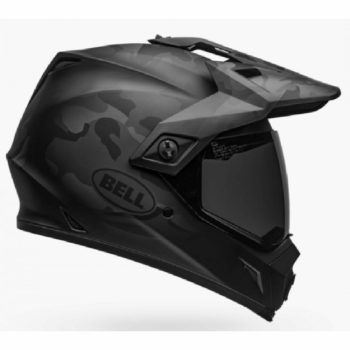 Bell MX 9 Adventure MIPS Stealth Camo Black Dualsport Helmet SIDE