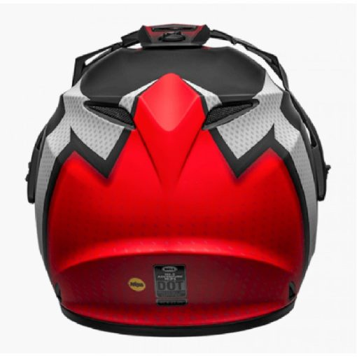 Bell MX 9 Adventure MIPS Switchback Matt Black White Red Dualsport Helmet back 2