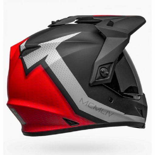 Bell MX 9 Adventure MIPS Switchback Matt Black White Red Dualsport Helmet back
