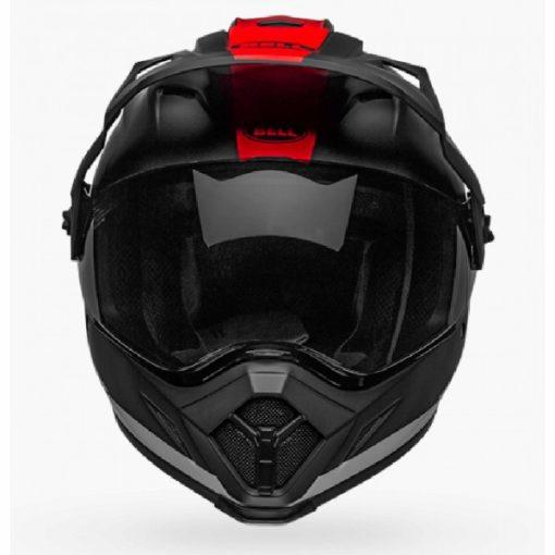 Bell MX 9 Adventure MIPS Switchback Matt Black White Red Dualsport Helmet front