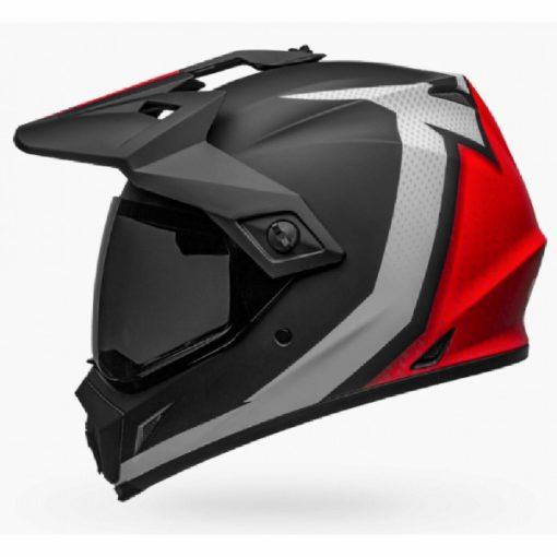 Bell MX 9 Adventure MIPS Switchback Matt Black White Red Dualsport Helmet side 2