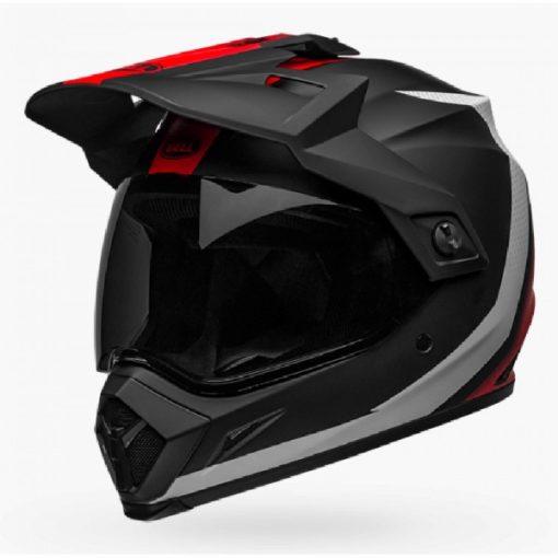 Bell MX 9 Adventure MIPS Switchback Matt Black White Red Dualsport Helmet side 3