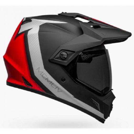 Bell MX 9 Adventure MIPS Switchback Matt Black White Red Dualsport Helmet side