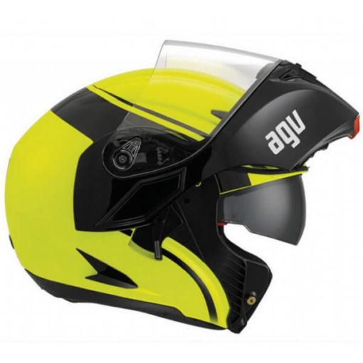 AGV Compact Multi PLK Course Yellow Black Flip Up Helmet 2