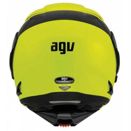 AGV Compact Multi PLK Course Yellow Black Flip Up Helmet 3
