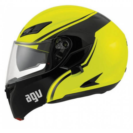 AGV Compact Multi PLK Course Yellow Black Flip Up Helmet