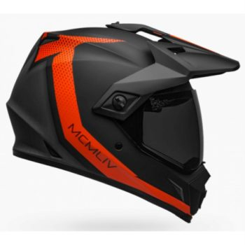 Bell MX 9 Adventure MIPS Switchback Matt Black Fluorescent Orange Dual sport Helmet 1