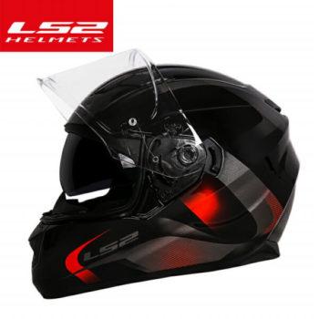 LS2 FF320 Velvet Gloss Black Orange Full Face Helmet