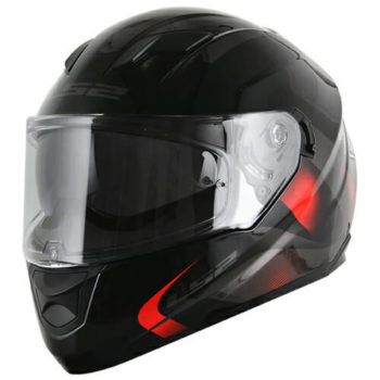 LS2 FF320 Velvet Gloss Black Red Full Face Helmet 1