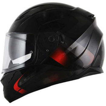 LS2 FF320 Velvet Gloss Black Red Full Face Helmet