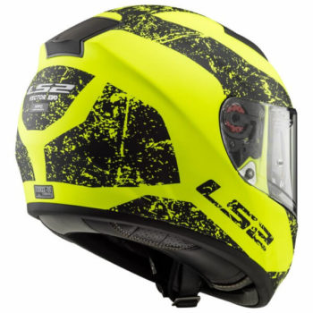 LS2 FF397 Citation Sign Matt Black Fluorescent Yellow Full Face Helmet 1