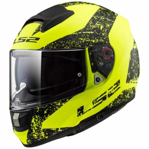 LS2 FF397 Citation Sign Matt Black Fluorescent Yellow Full Face Helmet