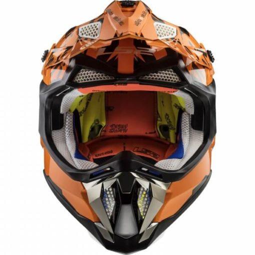 LS2 MX470 Subverter Emperor Matt Black Orange Motocross Helmet 1