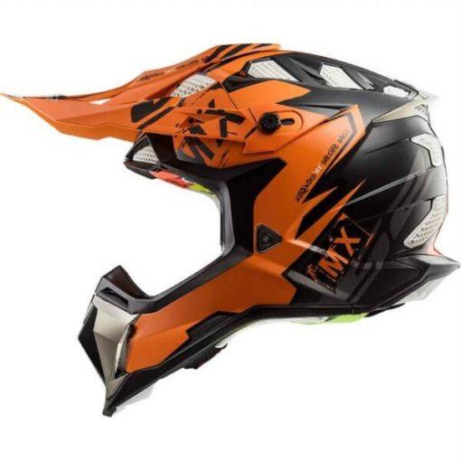 LS2 MX470 Subverter Emperor Matt Black Orange Motocross Helmet
