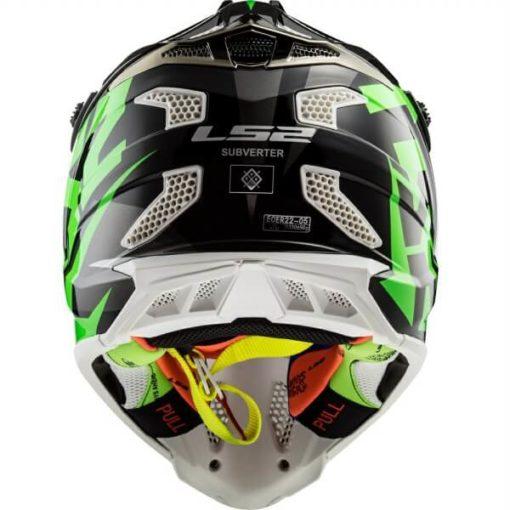 LS2 MX470 Subverter Nimble Matt Black White Green Motocross Helmet 1