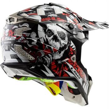 LS2 MX470 Subverter Vodoo Matt Black White Red Motocross Helmet 2