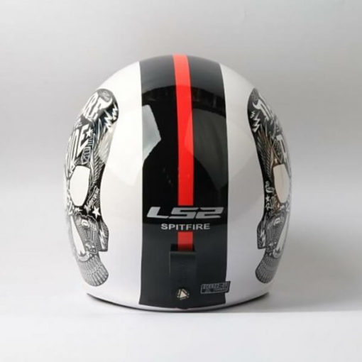 LS2 OF599 INKY MATT WHITE OPEN FACE HELMET 2