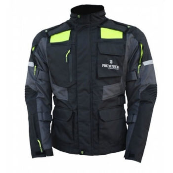Mototech Trailblazer Tourpro Black Grey Riding Jacket