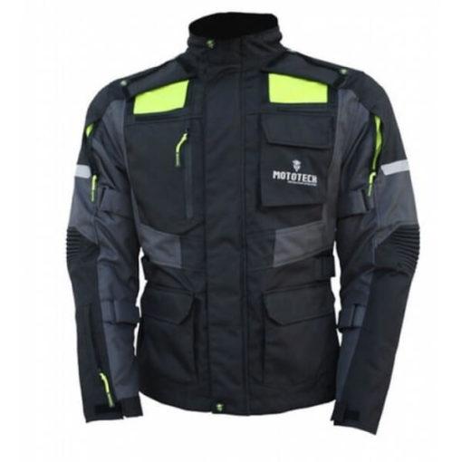 Mototech Trailblazer Tourpro Black Grey Riding Jacket
