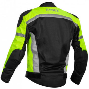 Rynox Helium GT Fluorescent Green Riding Jacket 1
