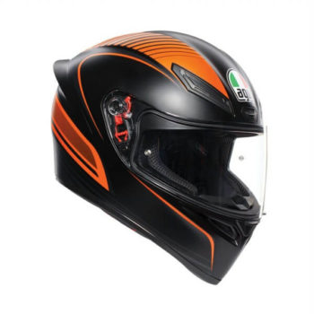 AGV K 1 Multi Warmup Matt Black Orange Full Face Helmet