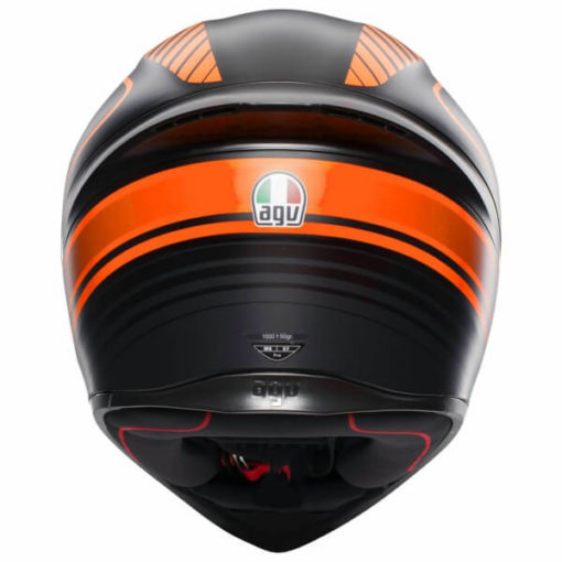 AGV K 1 Multi Warmup Matt Black Orange Full Face Helmet1