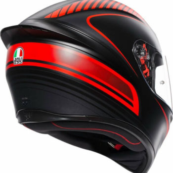 AGV K 1 Multi Warmup Matt Black Red Full Face Helmet1