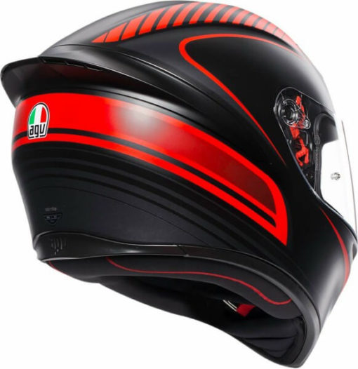 AGV K 1 Multi Warmup Matt Black Red Full Face Helmet1