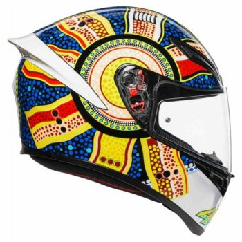 AGV K 1 Top Dreamtime Gloss White Yellow Blue Full Face Helmet