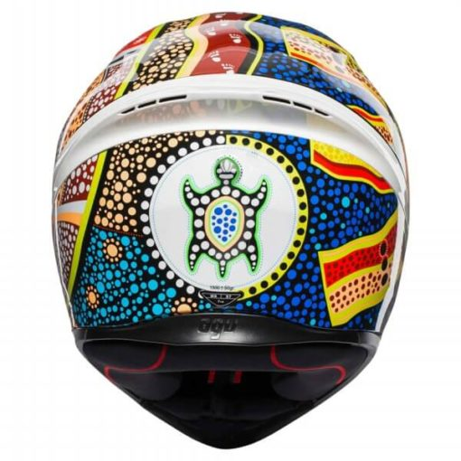 AGV K 1 Top Dreamtime Gloss White Yellow Blue Full Face Helmet2