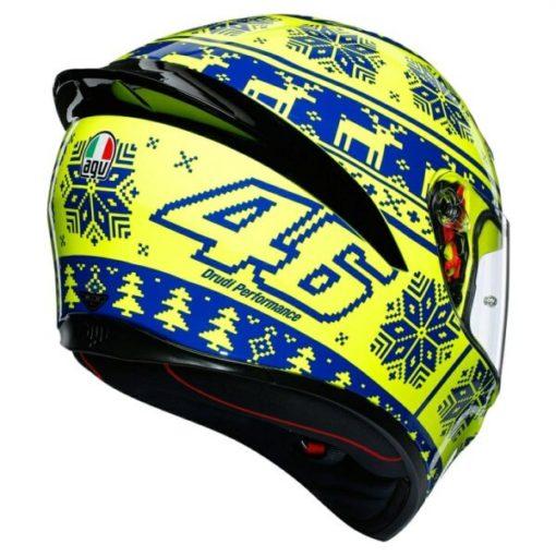 AGV K 1 Top Winter Test Gloss Fluorescent Yellow Blue Full Face Helmet2