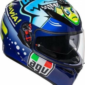 AGV K 3 SV Top PLK Rossi Misano Gloss Blue Yellow Full Face Helmet