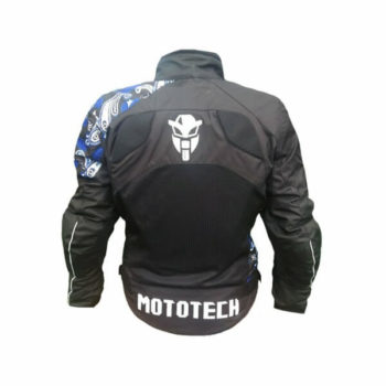 Mototech Scrambler Air Womens Black Blue Motorcycle Jacket1