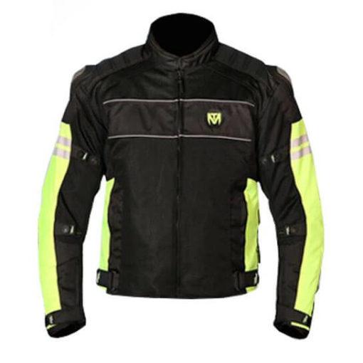 Mototorque Resistor L2 Black Fluorescent Yellow Riding Jacket