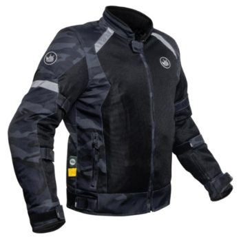 Rynox Urban Camo Blue Riding Jacket