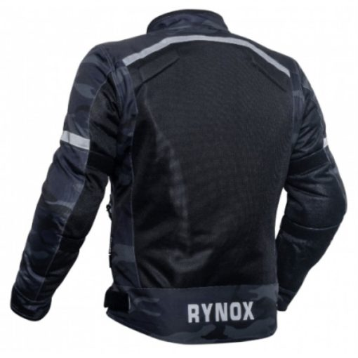 Rynox Urban Camo Blue Riding Jacket1