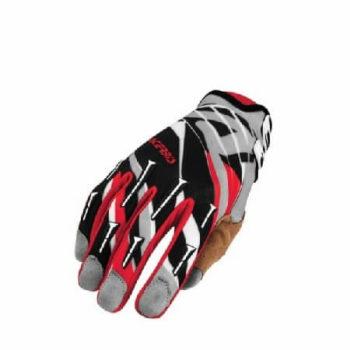 Acerbis MX 2 Gaunte Luva Black Red Grey Gloves