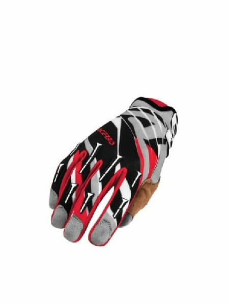 Acerbis MX 2 Gaunte Luva Black Red Grey Gloves