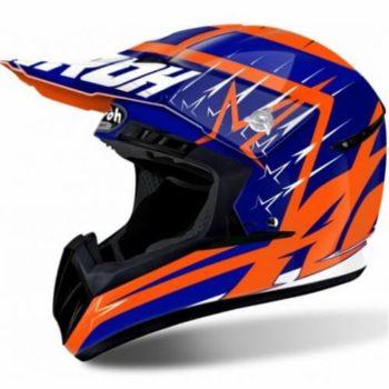 Airoh Switch Startruck Blue Orange Gloss Motocross Helmet