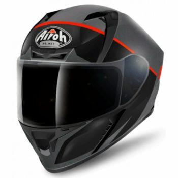 Airoh Valor Eclipse Matt Black Orange Full Face Helmet