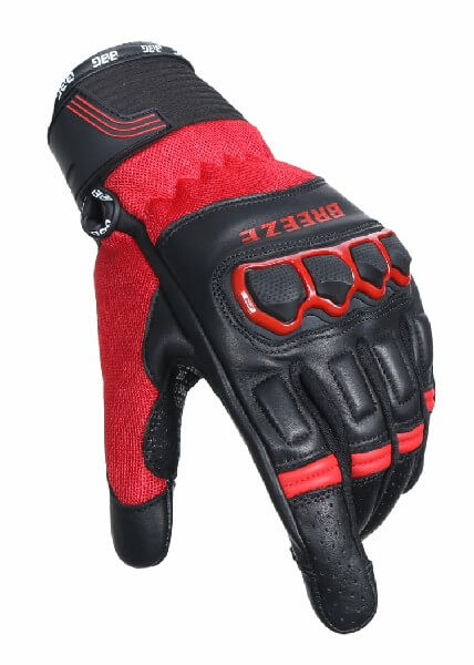 BBG Breeze Black Red Riding Gloves 1