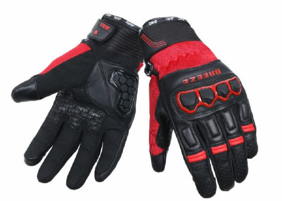 BBG Breeze Black Red Riding Gloves